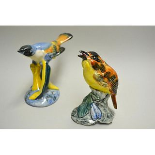 STANGL POTTERY BIRDS BLUE HEADED VIREO AND CHAT BIRD