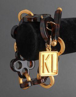 Karl Lagerfeld Faux-Tortoise & Gold-Tone Bracelet
