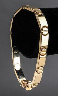 Italian 14K Yellow Gold Link Bracelet