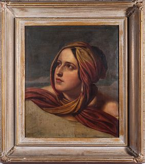 "Continental School ""Portrait of a Woman"" Oil"