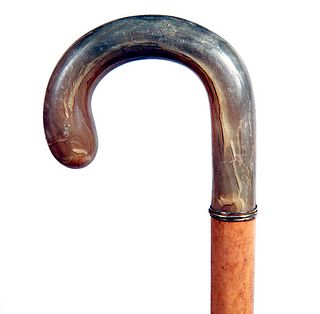 Horn and Malacca Crook Cane