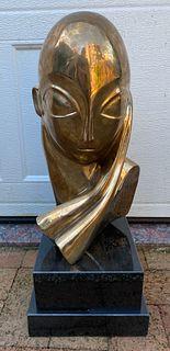 Large Romanian Bronze Sculpture Constantin Brancusi