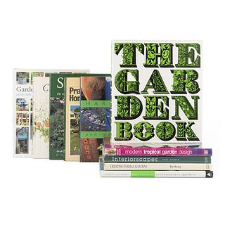 Creating a Garden. Modern Tropical Garden Design / Creating Formal Gardens / Interiorscapes / The Garden Book... Pieces: 10.
