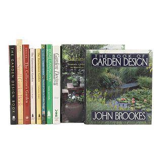 Garden Design. Garden Design/ Practical to Garden Design/ Home Landscapes/ The Small Garden Book/ Gaining Ground... Pieces: 10.