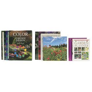 Garden Design. Glorious Gardens / The National Arboretum Book / The 400 Best Garden Plants / 100 Garden Designs... Pieces: 11.