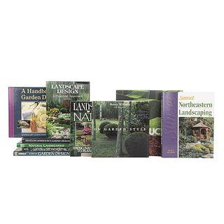 Garden Design. Garden Designs / Sunset: Northeastern Landscaping / Natural Landscaping / Icons of Garden Design... Pieces: 10.