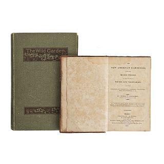 Fessenden Thomas / Robinson, William. The New American Gardener / The Boston / Oxford, 1828 / 1894.  Pieces: 2.