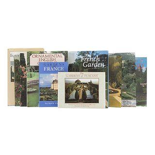 Gardens of Europe. Private Gardens of Scotland / Ornamental English Gardens / Spanish Gardens / Gardens of Portugal... Pieces: 10.