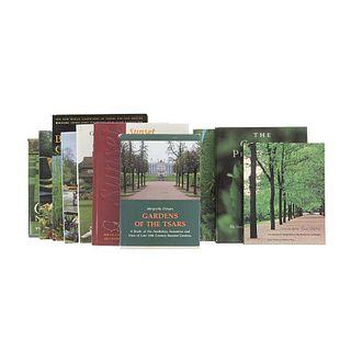 Private Gardens. Gertrude Jekyll's Lost Garden / Gardens of the Riviera / The Rothschild Gardens / Invisible Gardens... Pieces: 10.