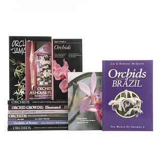 Books on Orchids. Orchids of Jamaica / Orchids as House Plants / Easy Orchids / Orchids of Brazil... Pieces: 12.