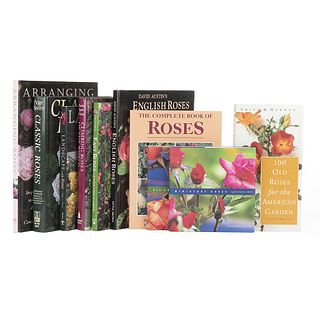 Books on Roses. Climbing Roses of the World / Landscape with Roses / Classic Roses / English Roses / Arranging Roses... Pieces: 10.