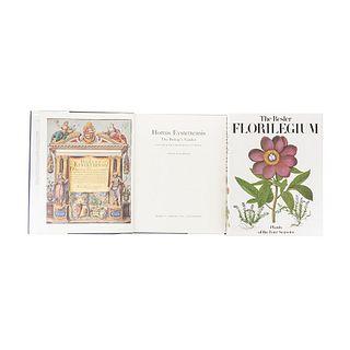 Besler, Basilius / Barker, Nicolas. The Besler Florilegium / Hortus Eystettensis.  New York, 1989 / 1995. Pieces: 2.
