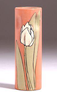 Weller Pottery Etched Mat Cylinder Vase