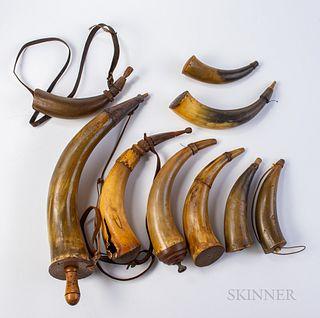 Group of Powder Horns