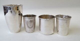 Four (4) Sterling Silver Cups