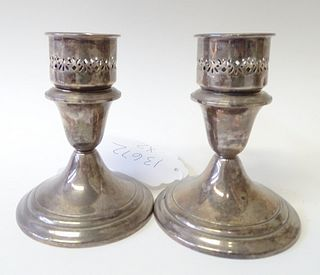 Sterling Silver Weight Candlesticks