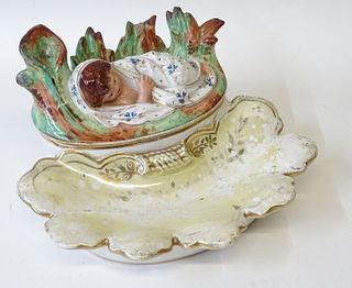 European Porcelain Figural Dish