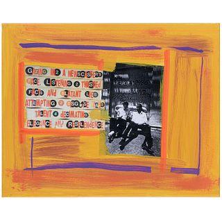 Al Diaz, multimedia portrait with Basquiat