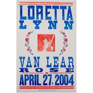 Loretta Lynn concert poster