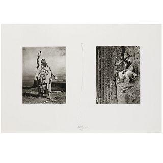 Matthew Barney, photogravure diptych