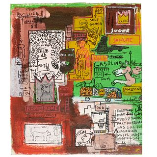 Jean-Michel Basquiat (after), painting