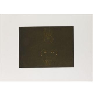 Francesco Clemente, etching, printer's proof