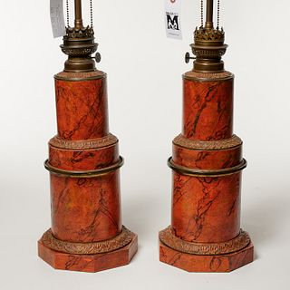 Pair Gagneau French Restauration table lamps