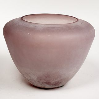 Large Alfredo Barbini, Cenedese Scavo glass vase