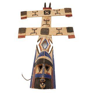 Dogon Peoples, carved Kanaga mask