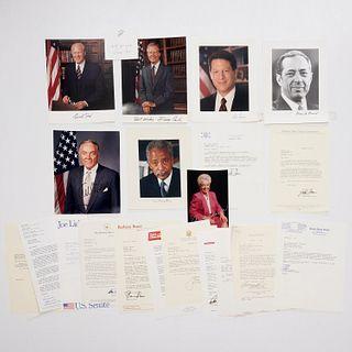 Large collection political autographs