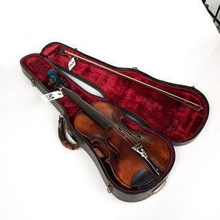 Vintage Giuseppe Ravita violin and bow