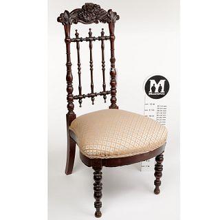 American Rococo Revival child's chair