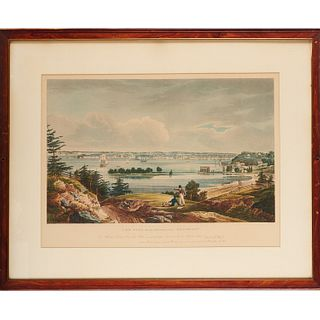 New York from Heights Near Brooklyn, engraving