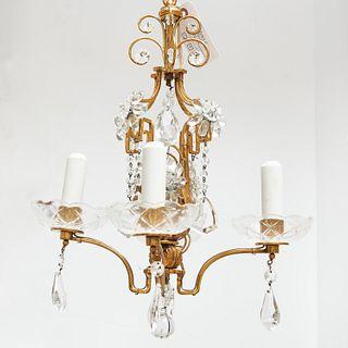Baltic Neo-Classical petit bronze chandelier