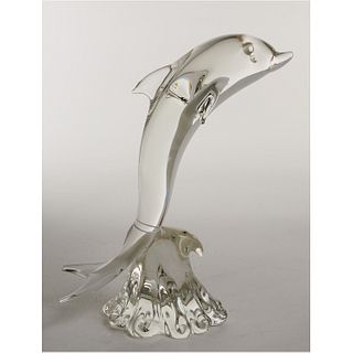 Large Murano Oggetti art glass dolphin