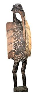 Antique African Large Sunufo Wooden Tribal Sculpture