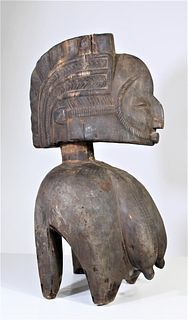 African Baga Tribe Carved Mahogany Sculpture