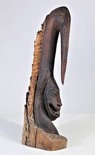 African Maasai Tribe Carved Mahogany Figure
