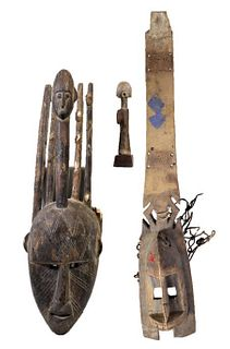 Collection of (3) West African Carved Sculptures