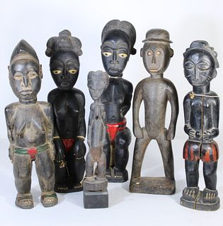 Ivory Coast Collection of Carved Wood Figures