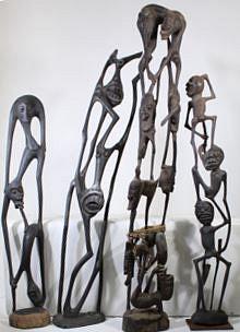 Massive Collection of Kenyan Maasai Wooden Figures
