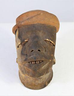 Makonde Carved Wooden Head