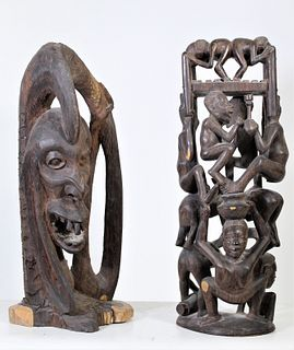 Pair of  Maasai Tribe Carvings