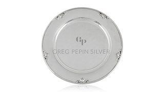 Set of Twelve Georg Jensen Acorn Charger Plates 642B