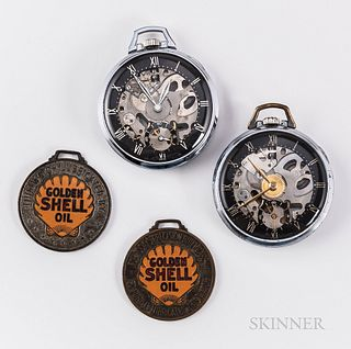 """Two Gerard-Perregaux & Co. """"Shell Oil"""" Open-face Watches"""