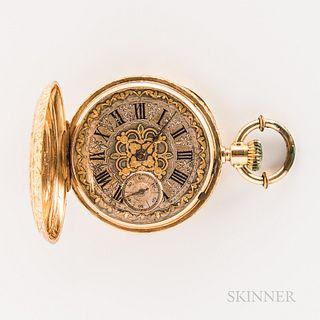 18kt Gold Swiss Hunter-case Watch