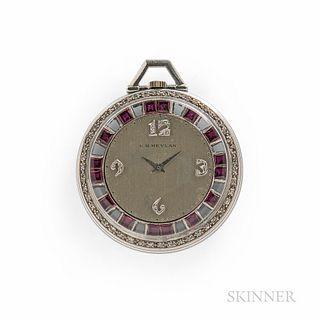 C.H. Meylan Platinum Gem-set Watch