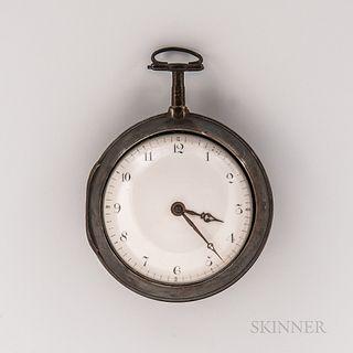 Robert Clench Silver Pair-case Watch