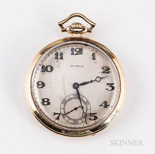 14kt Gold Zenith Open-face Watch