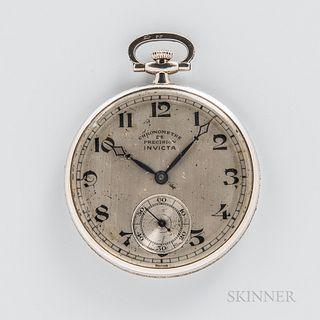 Invicta Platinum and Diamond Open-face Watch